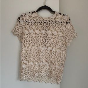 Alice & Olivia crochet top